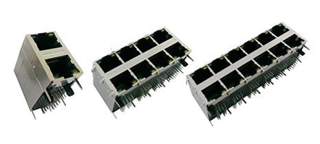 双层堆叠式 RJ45 连接器 带变压器