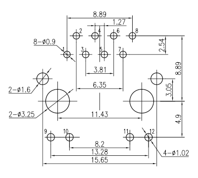 LED Pins are parallel