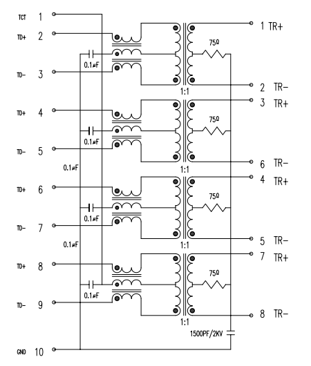 vertical rj45 integrated jack connector