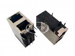 2x1 千兆 POE+ RJ45网口插座 集成变压器
